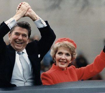 Ronald Reagan na de presidentiële inauguratie in 1980 (National Archives)