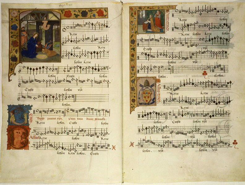 Bladmuziek van de hand van Jacob Barbireau. Bron: Wikimedia