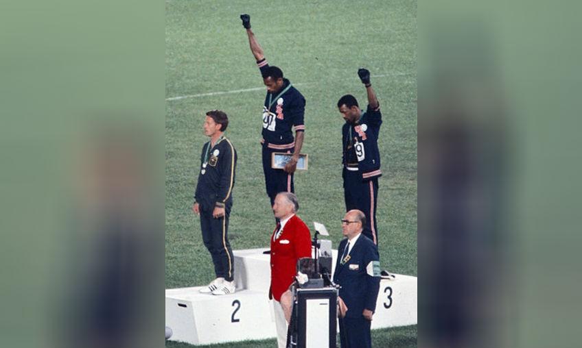 Black Power-groet tijdens de Olympische Spelen van 1968