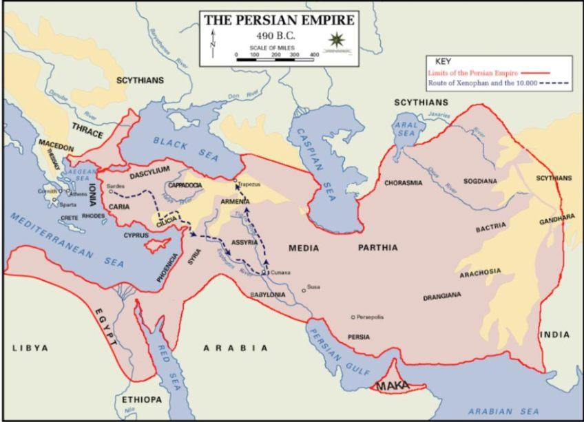 Perzische Rijk in 490 voor Christus (wiki)