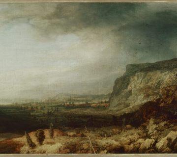Hercules Segers, Berglandschap met vergezicht, 1620-25, Galleria degli Uffizi Florence