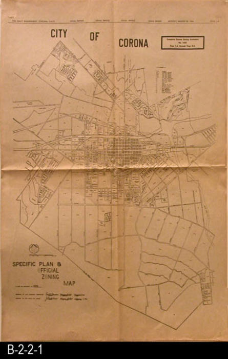 Newspaper   1966   City of Corona   Complete Corona Zoning Ordinance     Newspaper   1966   City of Corona   Complete Corona Zoning Ordinance With  Map   Ordinance 1005