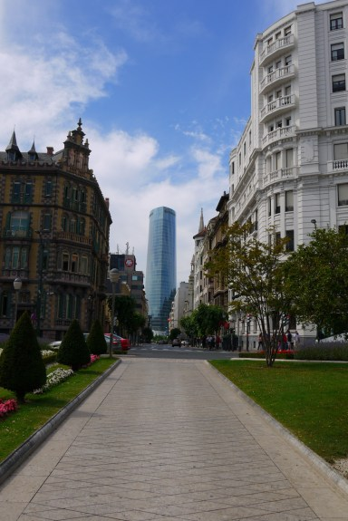 The glass Iberdrola Tower, as seen from Moyua square - Bilbao, Spain (16), Why visit Bilbao