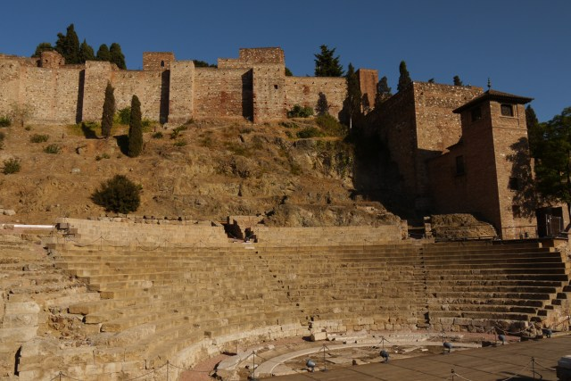 Roman theatre with the Malaga Castle above on the hill - Malaga, Spain (5), Malaga Free Walking Tour