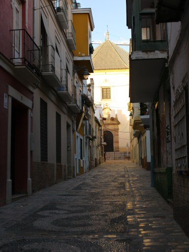 Deserted alleyway leading to the Church of Christ of the Health - Malaga, Spain (58), staying in Malaga