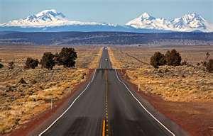 Oregon highway - by Tim Shey. A Short hitchhiking trip