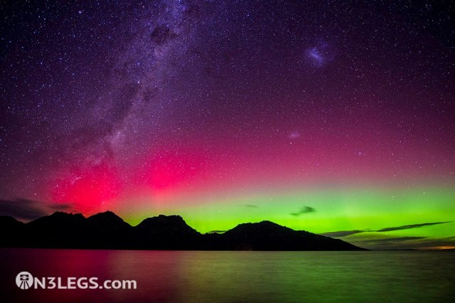 Ben Fewtrell - Photojourney - Aurora Australis over the Hazard Mountains, Tasmania, Australia