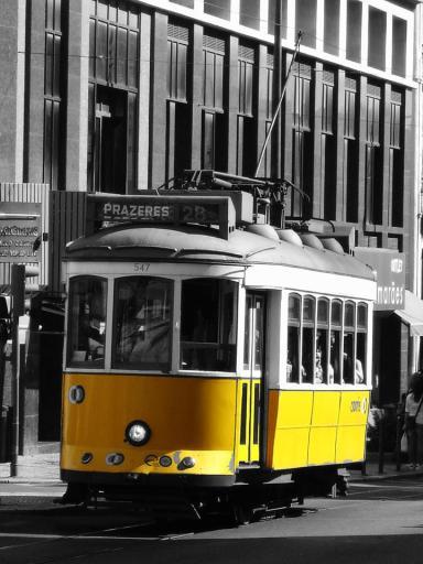 Rogério Paulo Pedrosa - Famous yellow tram in Lisbon, Portugal