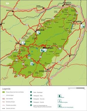 Map Serra de Estrela, Portugal's Absolute Musts