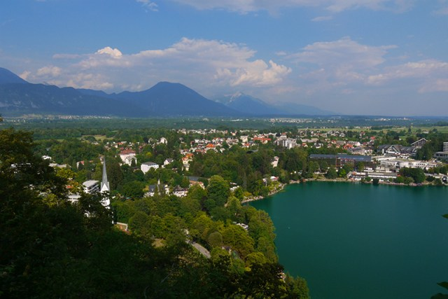 Bled, Slovenia (24) - The Lake seen from Blejski Grad castle
