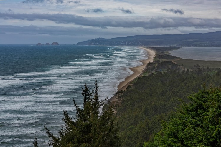 Netarts Bay from Cape Lookout State Park in Oregon.