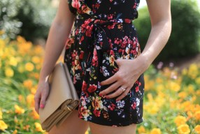 Creating Margins in a Floral Romper