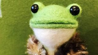 1月のひより。流行通信~ぷれみあむ☆さんの羊毛カエル~