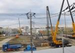 建設工事が本格化してきた「綱島SST」の様子(2015年9月29日撮影)