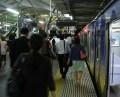 最終電車が元住吉駅に到着した時の様子