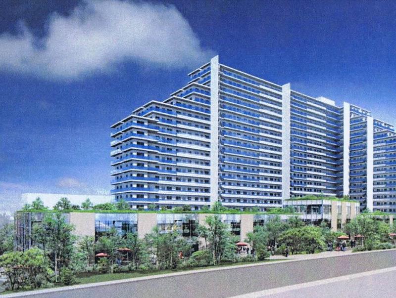 <アピタ跡の箕輪町計画>マンションは20階建て1320戸、日吉寄りに小型スーパー