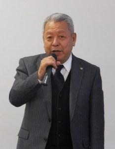 港北区宅建防犯協会の創設者で現在は顧問を務める畠山英治さんは、昨年(2016年)に民間主導で県下初となる港北区での防犯カメラ設置を実現させたことについて説明。「港北区を日本一安心・安全な街に」とその想いを語りました