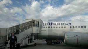 Let parked once arrive in FRA, we did get on using a jetway in ZRH though