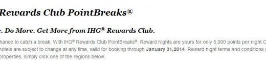 Pointbreaks IHG
