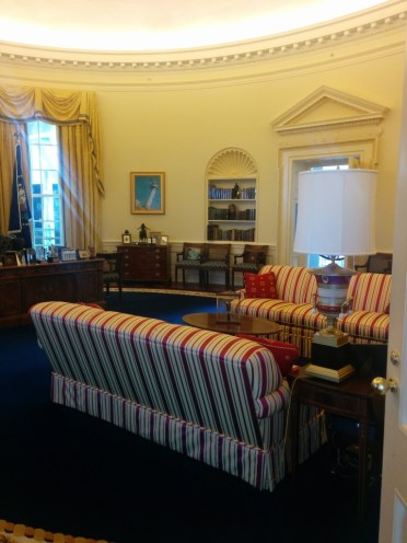 Oval Office replica, I thought this was cool!