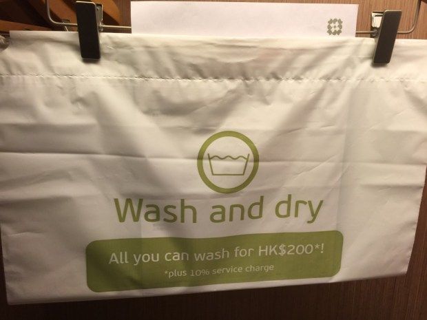 All you can launder in this bag for 200 HK