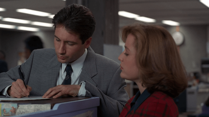 Mulder and Scully requisition a car in Jersey Devil.