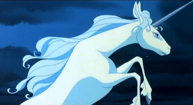 The Unicorn raises her horn in defiance.