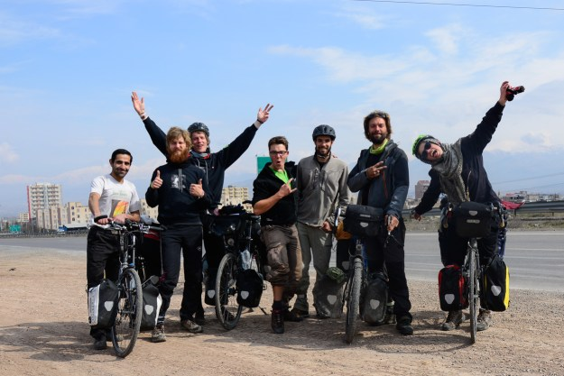 The whole Marand-gang. Left to right: Akbar, Ivars, Dainis, Clement, Flo, Maxime, Laura