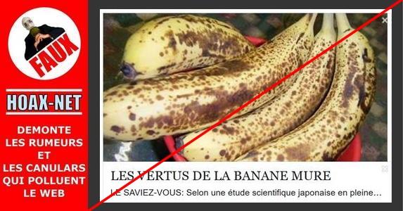 NON, la banane mûre (tachetée) n