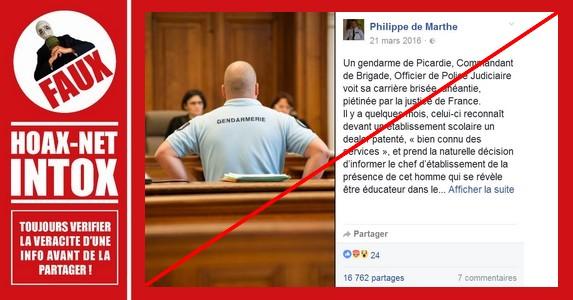 Voilà comment faire passer un Commandant de gendarmerie coupable de harcèlement en pauvre victime !