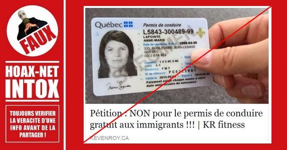 Non, le permis de conduire ne sera pas gratuit pour les immigrants au Québec.