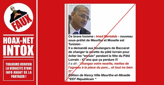 NON, Imed Bentaleb, sous-préfet de Meurthe-et-Moselle, n