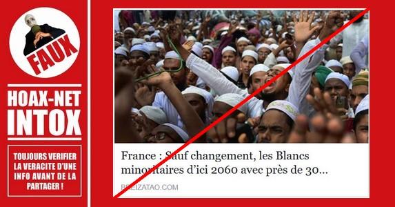 NON, les Blancs ne seront pas minoritaires d'ici 2060 en France