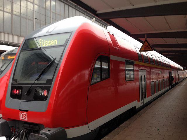 ドイツミュンヘンからフュッセンへローカル電車で移動②