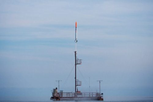 Nexø-1 Rocket liftoff