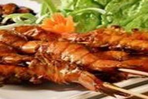 RESEP SATE UDANG THAILAND DENGAN SAUS KACANG