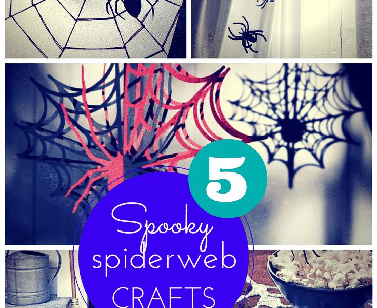 5 spooky spiderweb craft ideas