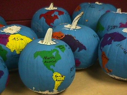 GEOGRAPHY pumpkin globe