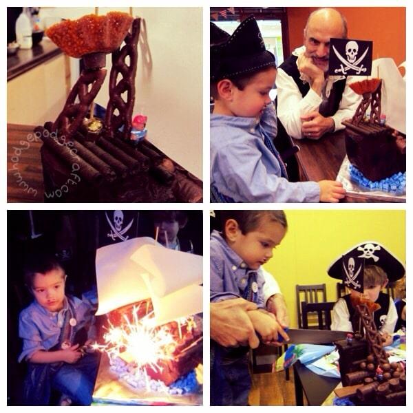 Chocolate pirate ship cake tutorial pic 3