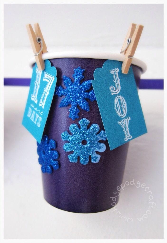DIY paper cup advent calendar tutorial