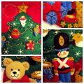 Christmas stocking felt appliqué