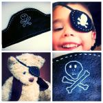 Pirate party eye patch & hat