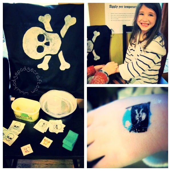 Pirate party activities - fake tattoos