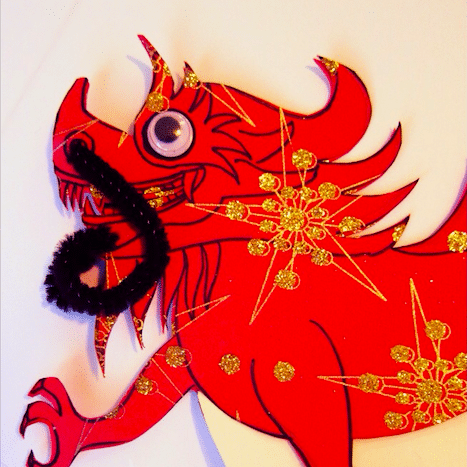 A Dancing Dragon Craft for Chinese New Year