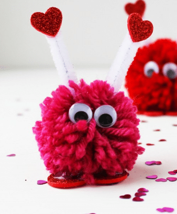 heart pom pom monster