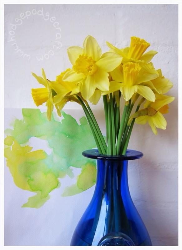 Watercolour daffodils