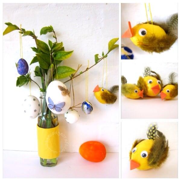 fluffy egg chicks