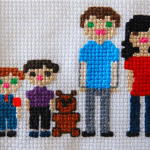 How to cross-stitch your family