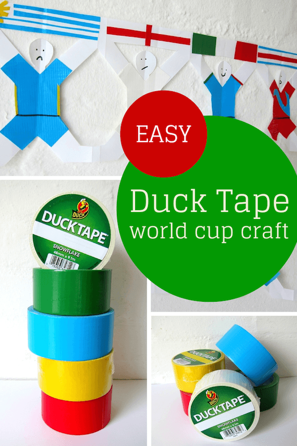 EASY Duck Tape world cup craft