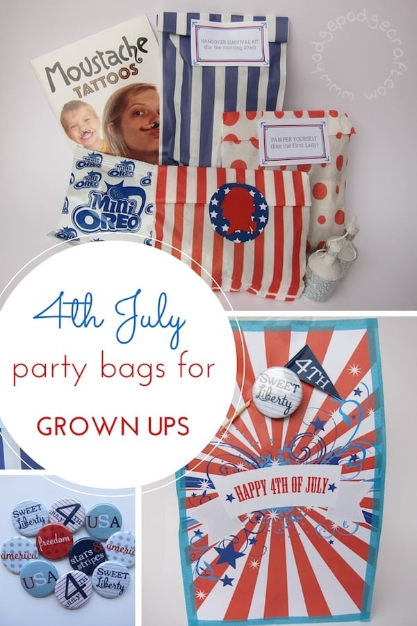 4th July Party Bags For Adults